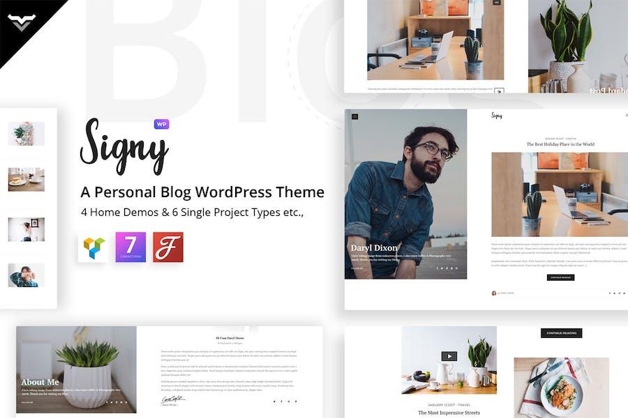 Signy - A Personal Blog WordPress Theme - 0