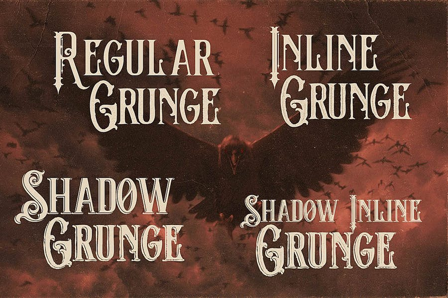 The Crow - Vintage Style Font - 0