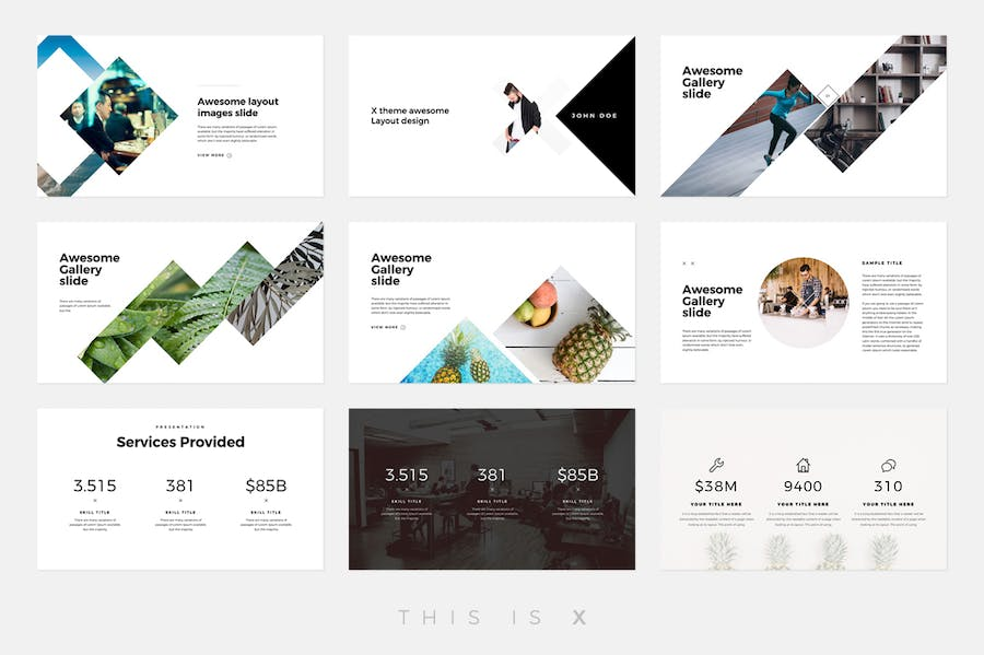 The X - Powerpoint Template - 3