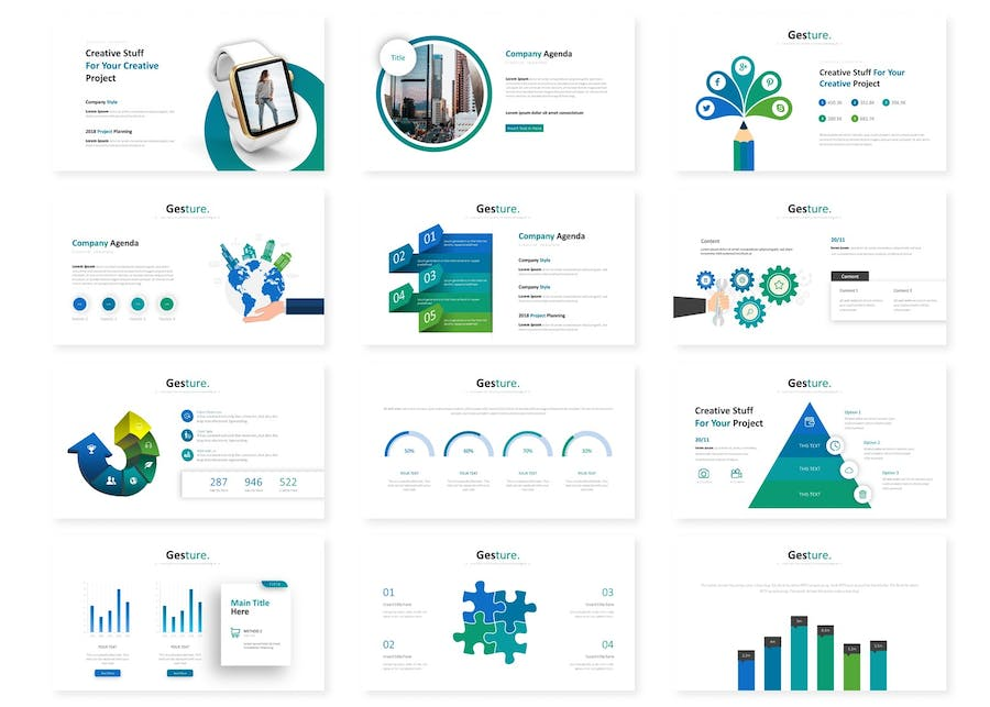 Gesture - Powerpoint Template - 1