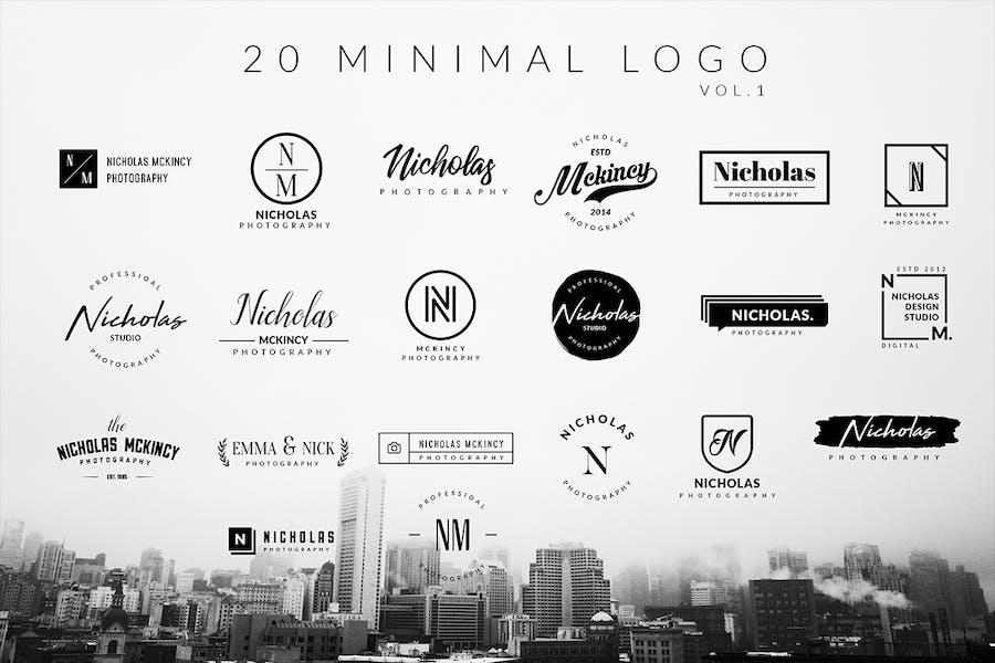 100 Minimal logos - 0