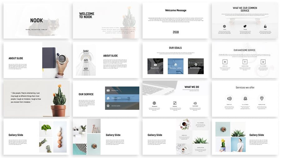 Nook - Minimal Powerpoint Template - 1
