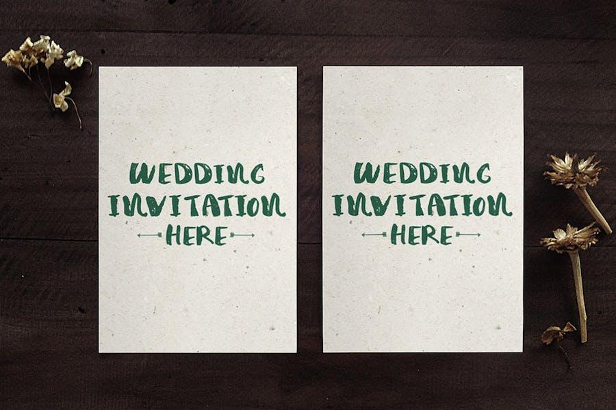 Wedding Invitation Mockups - 3