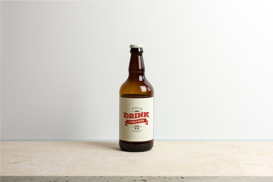 Beer Bottle Mock-up / Real Photo Scene - 0