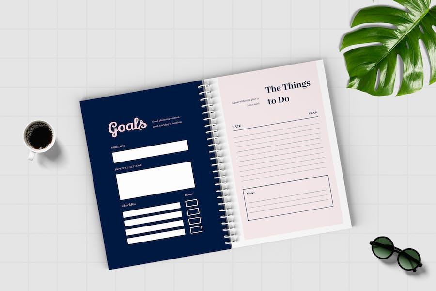 Worksheet Daily Planner Book - Three - 2