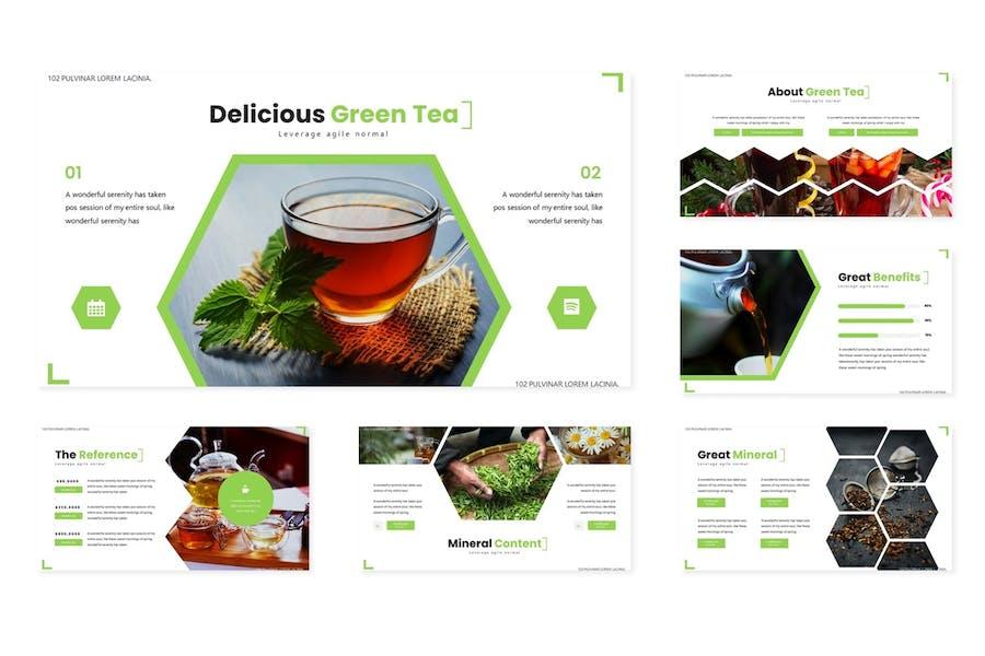 Green Tea - Powerpoint Template - 2
