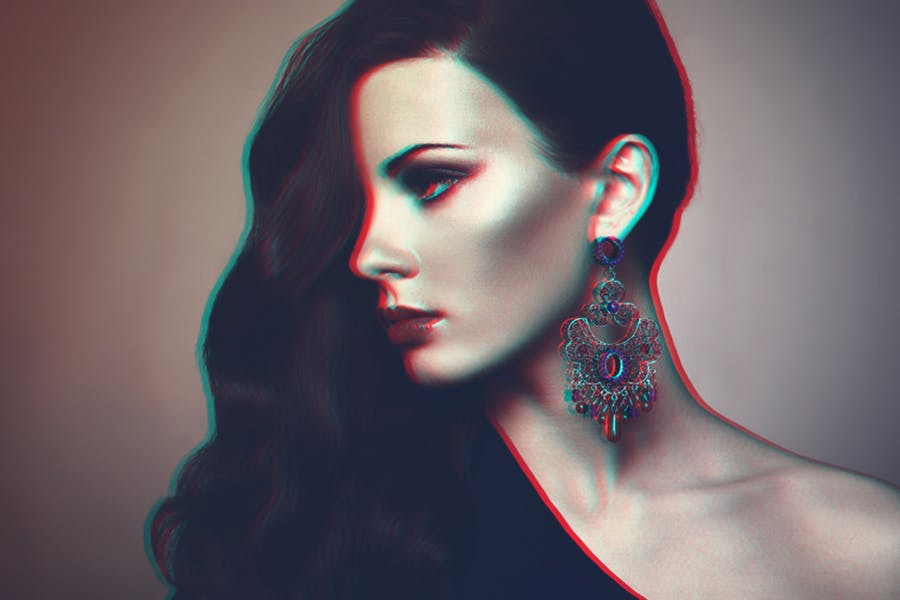 Anaglyph Photoshop Actions - 3
