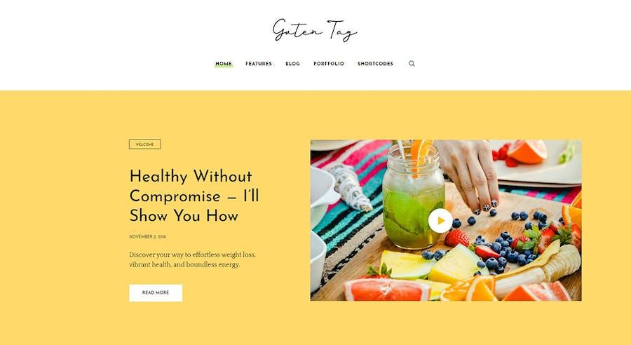 GutenTag - 100% Gutenberg Blog WordPress Theme - 0