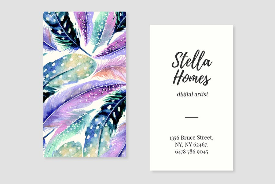 Wild Feathers Business Card Template - 3