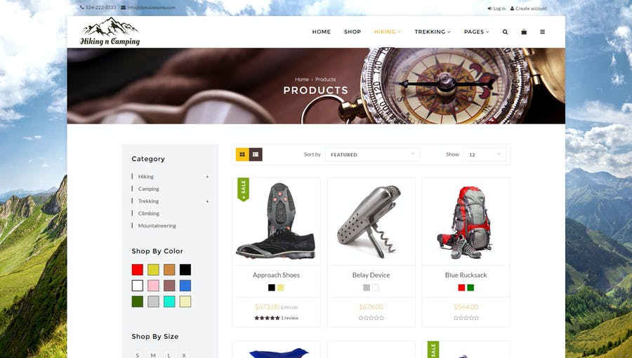 Hiking & Camping- Outdoor, Adventure Shopify Theme - 0