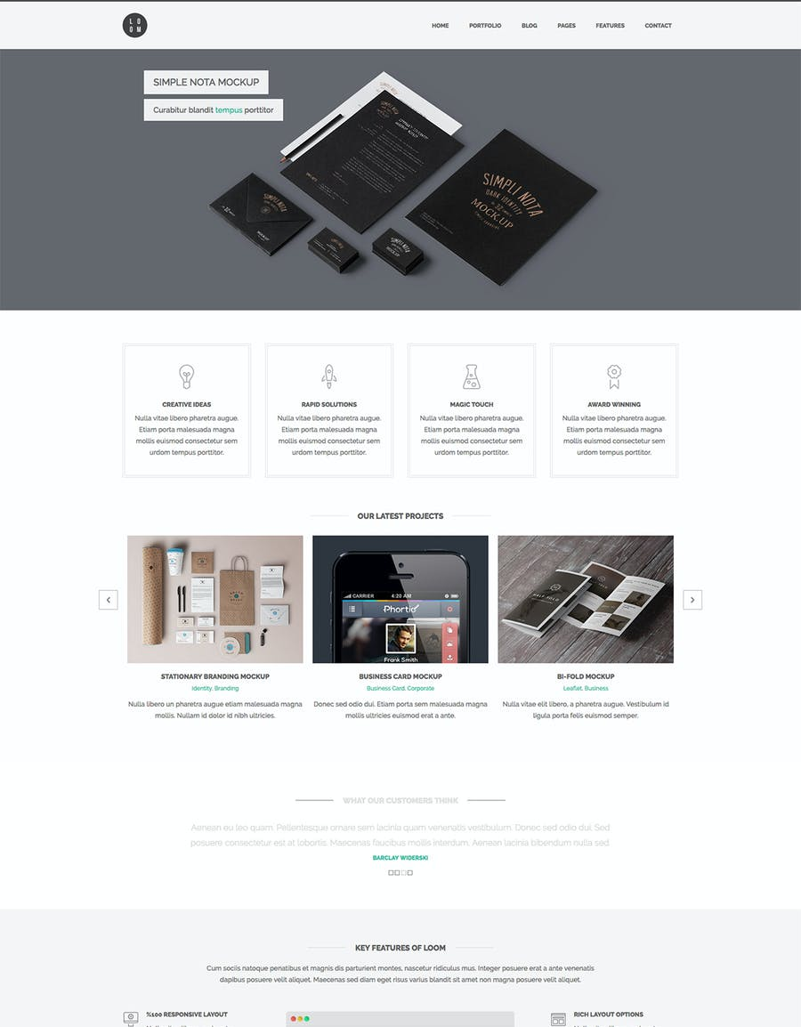 Loom - Multipurpose Responsive HTML5 Template - 0