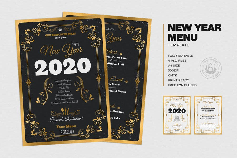 New Year Menu Template V1 - 1