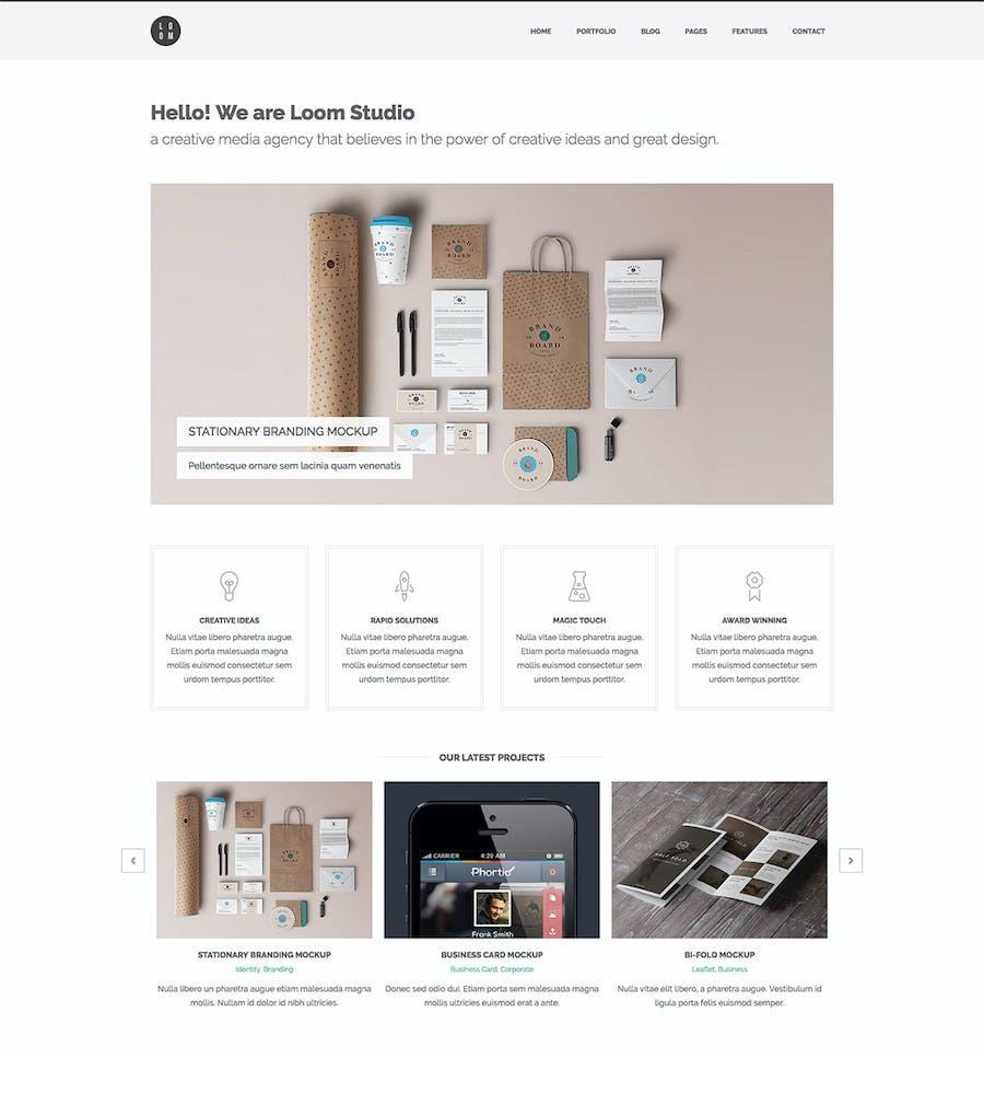 Loom - Multipurpose Responsive HTML5 Template - 2
