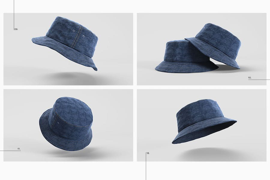 Bucket Hat Mockup Pack - 3