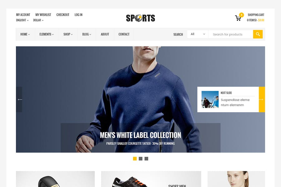 Sport Shop - Sporting Club RTL WooCommerce Theme - 0