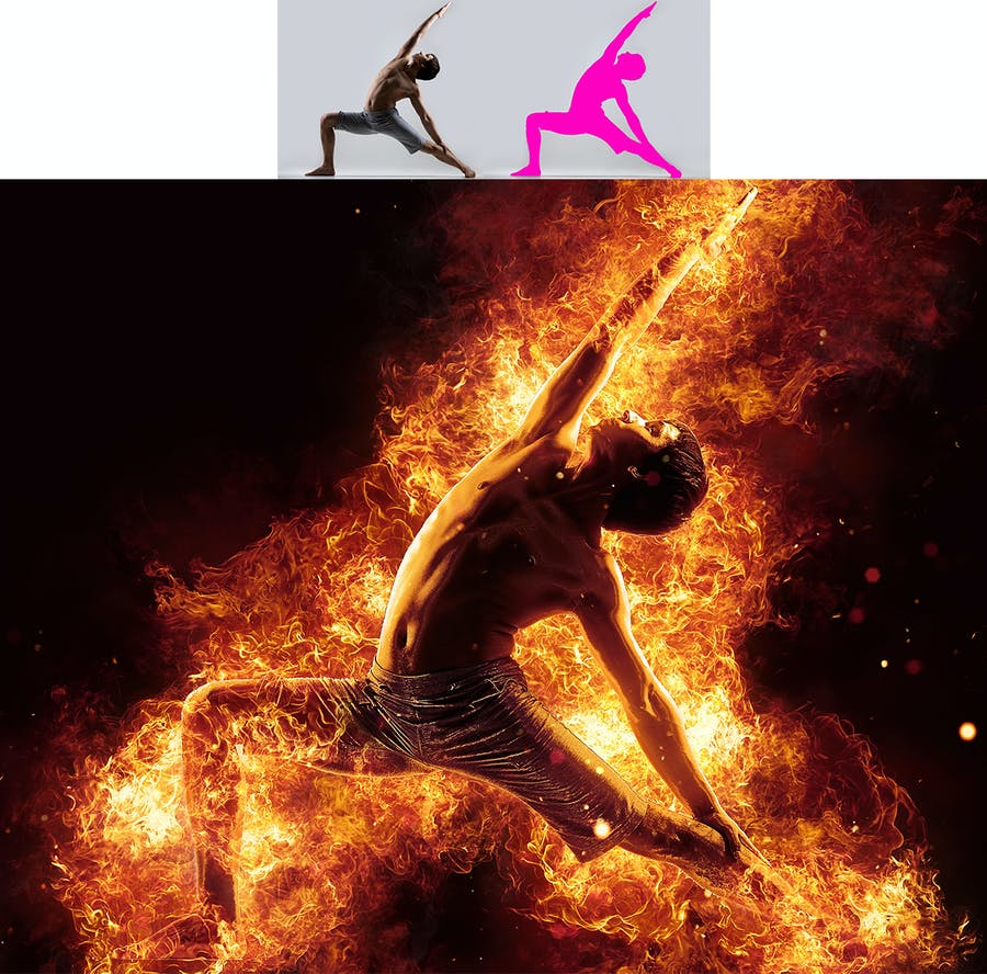 Flames Photoshop Action - 3