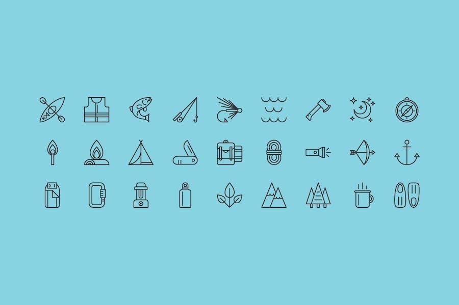 Outdoor Adventure Icons - 0