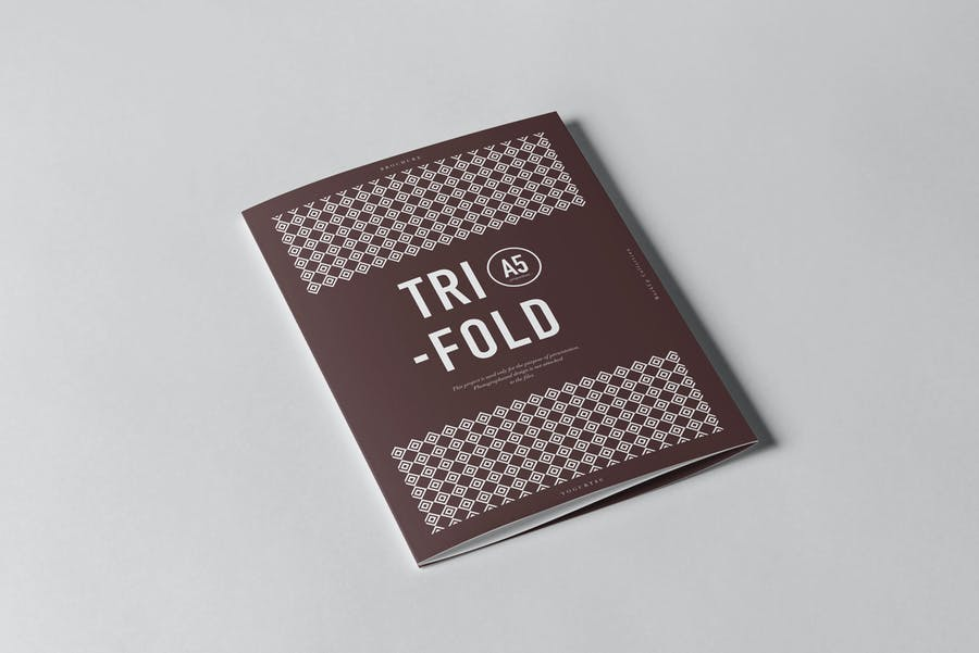 Tri-Fold A5 Brochure Mock-up 2 - 0