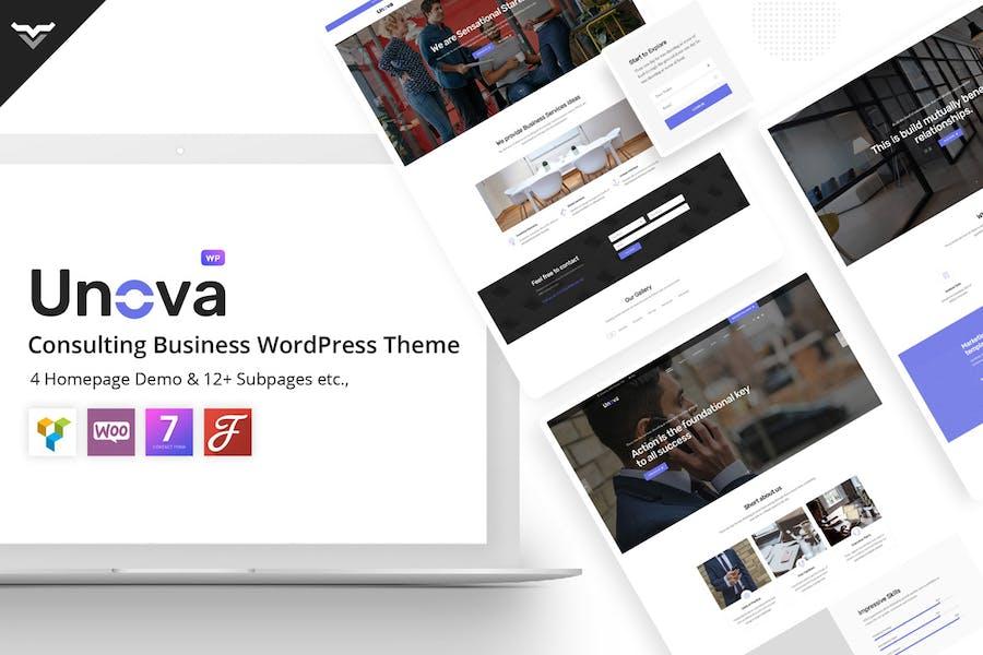 Unova - Consulting Business WordPress Theme - 0