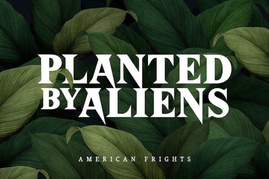 American Frights - Horror Serif Font - 2