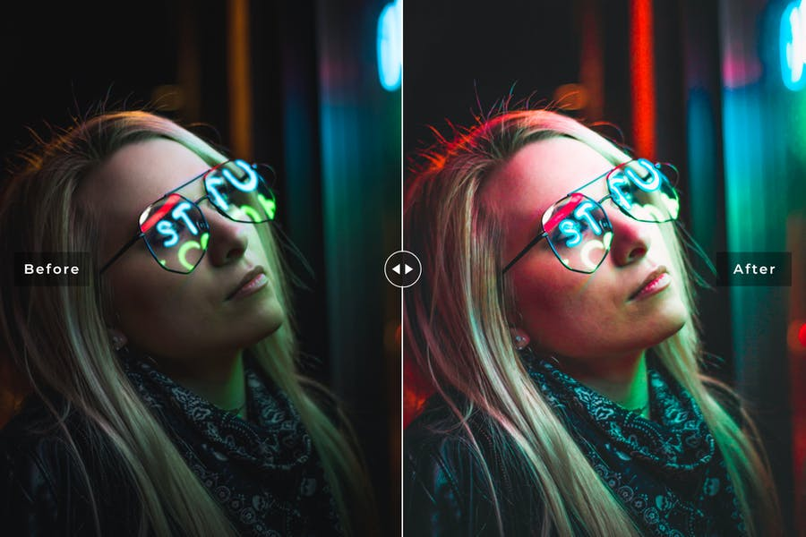 Neon Light Mobile & Desktop Lightroom Presets - 3