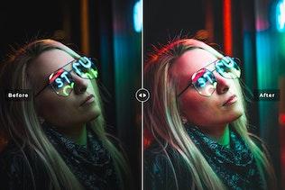 Neon Light Mobile & Desktop Lightroom Presets - 3
