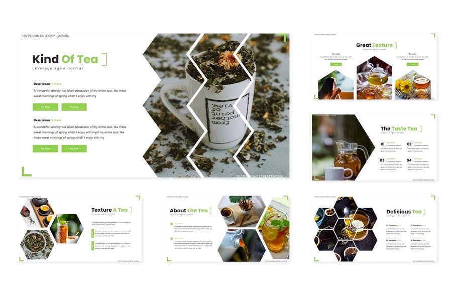 Green Tea - Powerpoint Template - 1