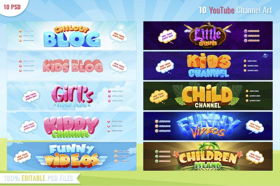 Kid Blog - 10 Youtube Banners - 3
