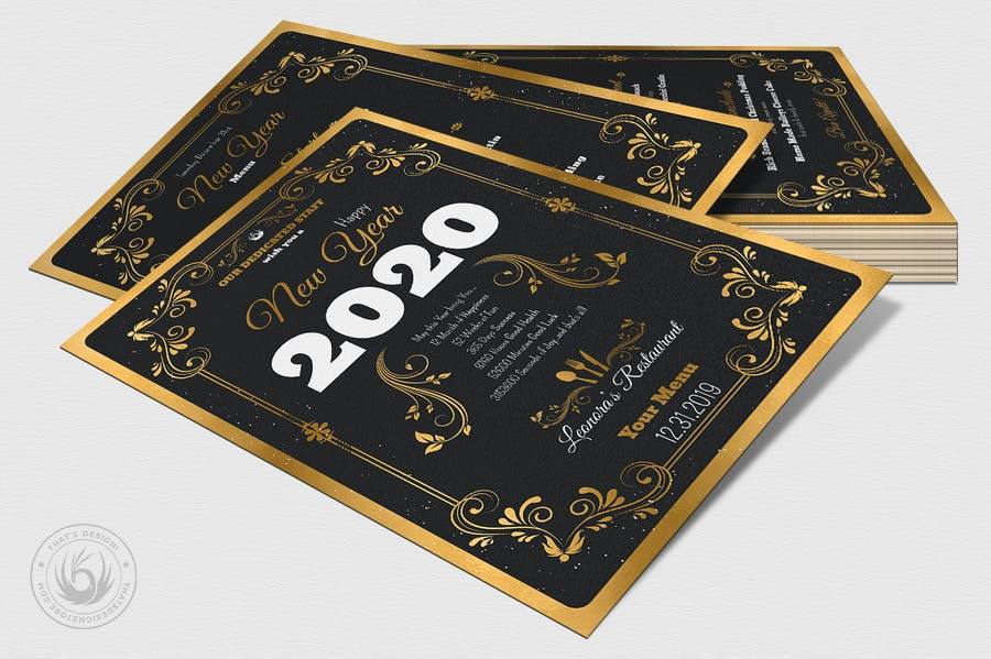 New Year Menu Template V1 - 3