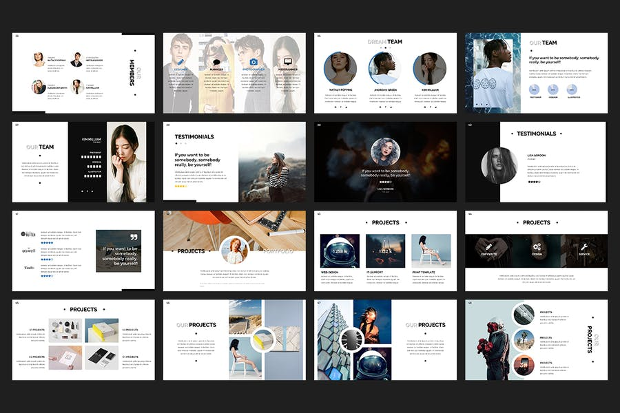 Hush PowerPoint Template - 2