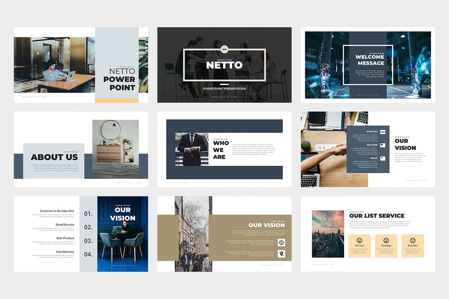 Netto : Architecture and Real Estate Powerpoint - 0
