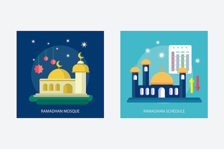 Ramadan Mubarak Vector Illustration - 2