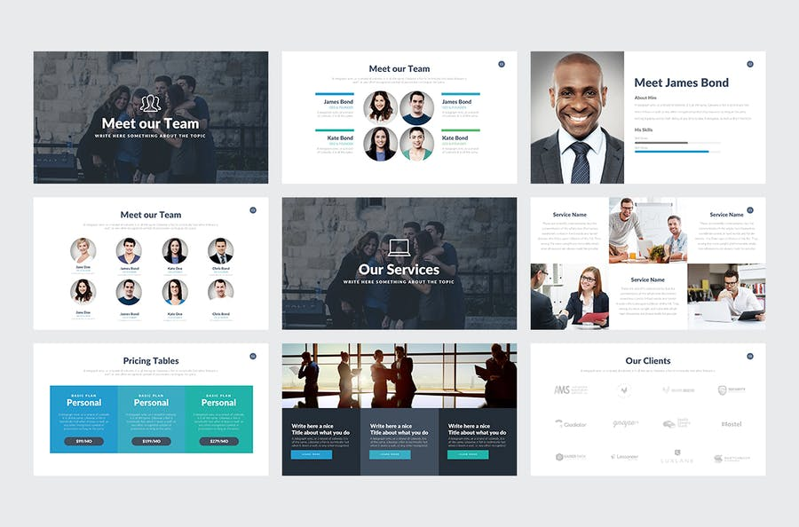 Company Profile Keynote Template - 1