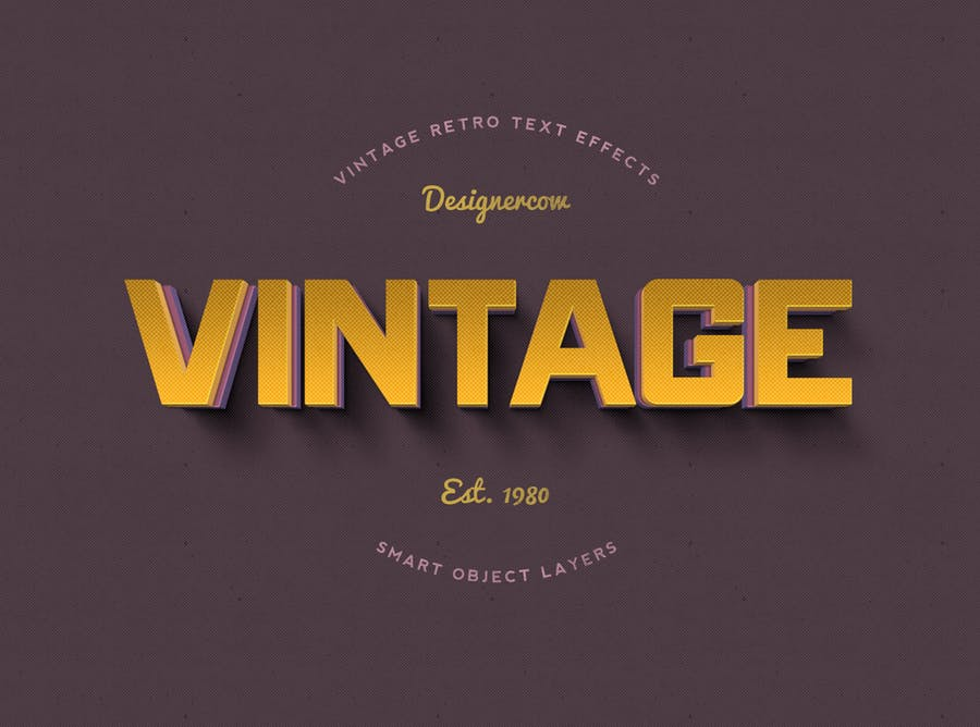 14 Vintage Retro Text Effects - 2