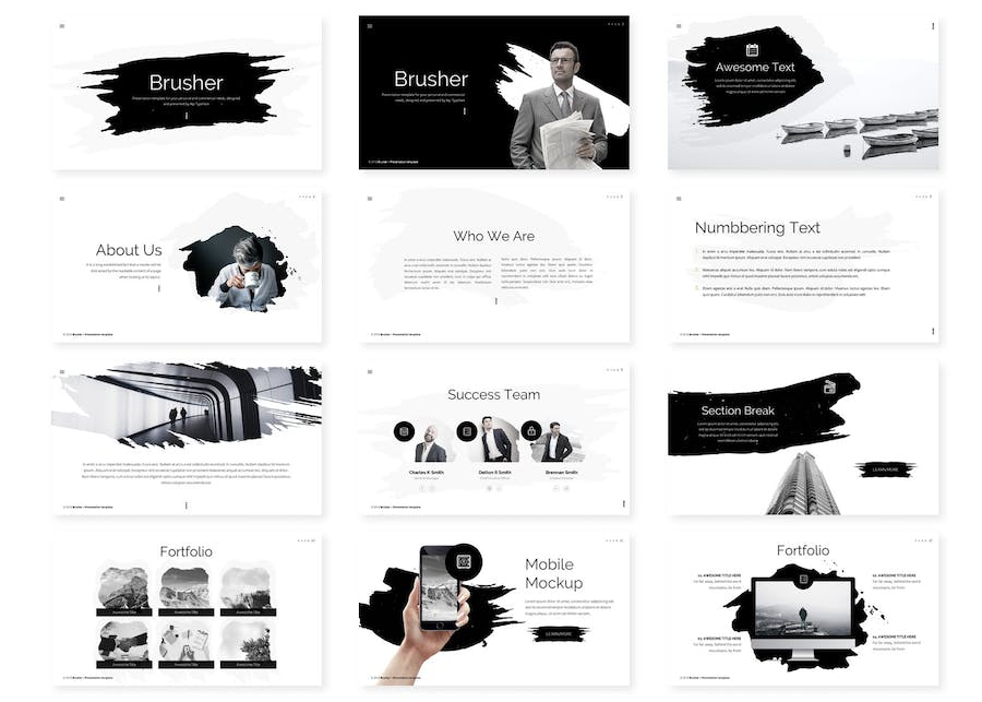 Brusher Powerpoint Template - 0