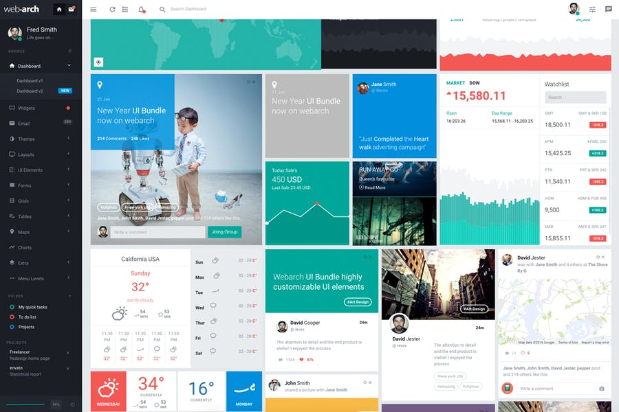 Webarch - Responsive Admin Dashboard Template - 0