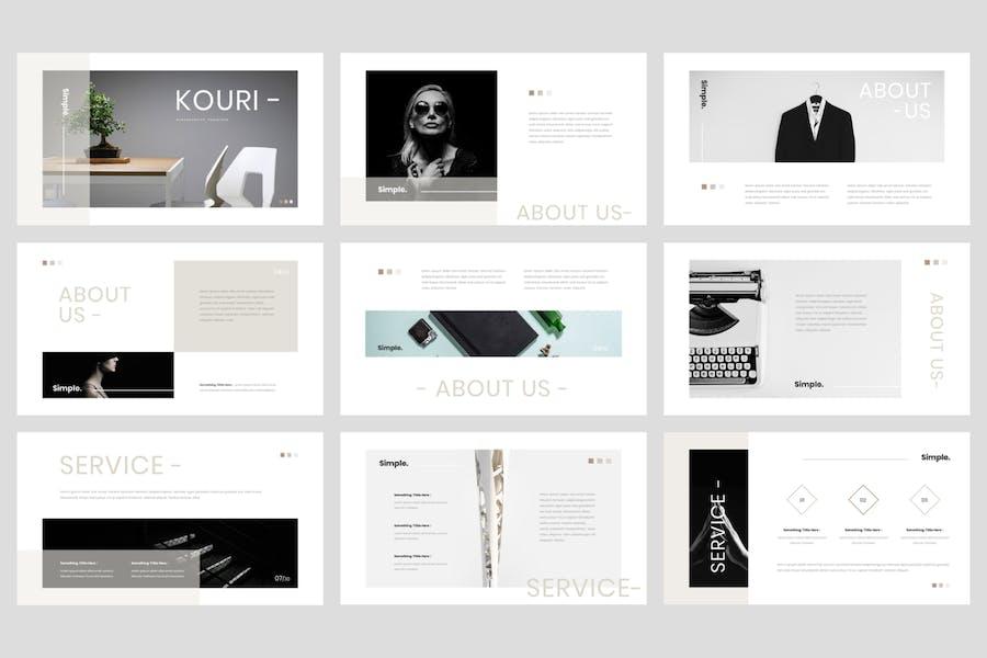 Kouri - Minimal PowerPoint Template - 0