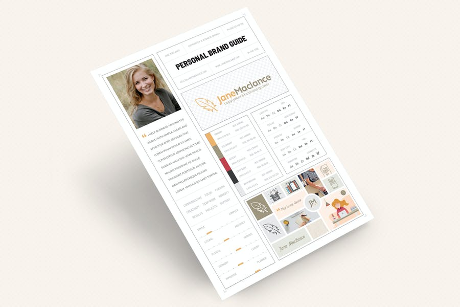 One Page Personal Brand Style Guide - 2