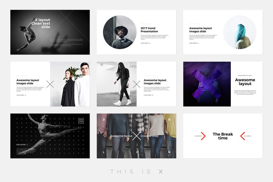 The X - Powerpoint Template - 1