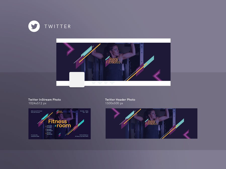 Fitness Gym Social Media Pack Template - 2