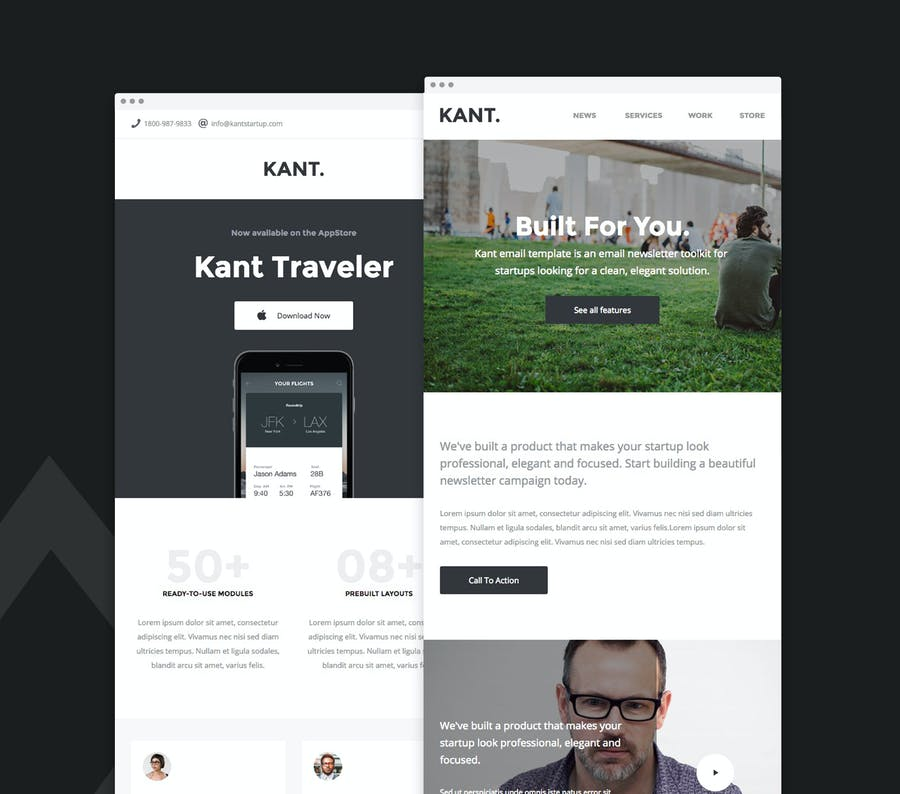 Kant - Responsive Email for Startups 50+ Sections - 2