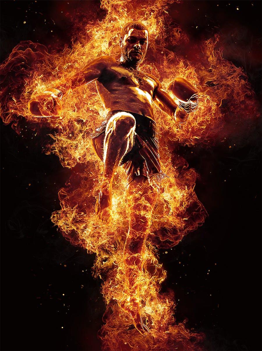 Flames Photoshop Action - 2