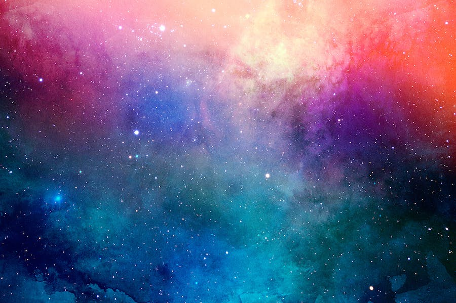 Space Watercolor Backgrounds - 2