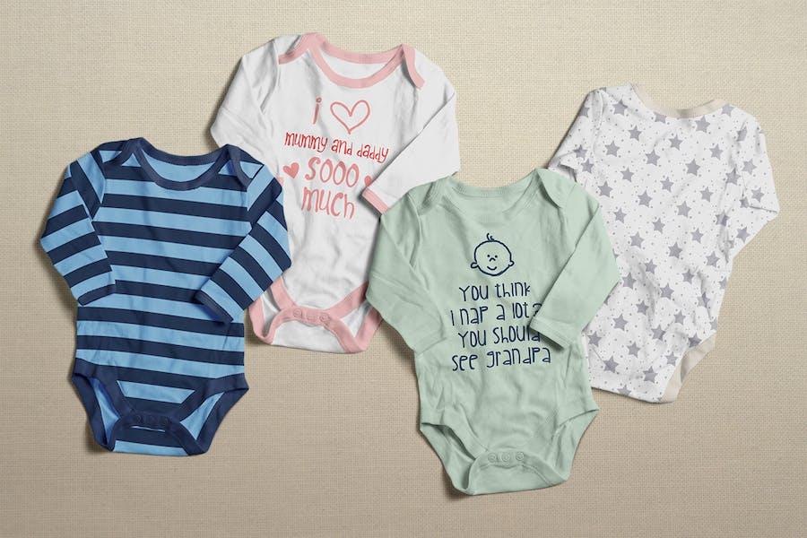 Baby Bodysuit Clothing Mock-up - 1