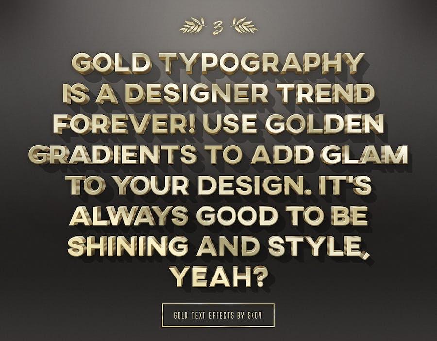 3D Gold Text Effects - 10 PSD - 1