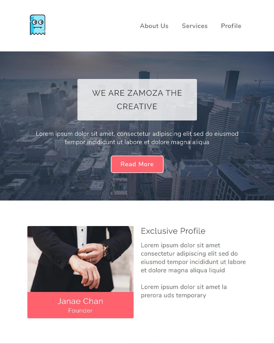 Zamoza Responsive Multipurpose Email Template - 0