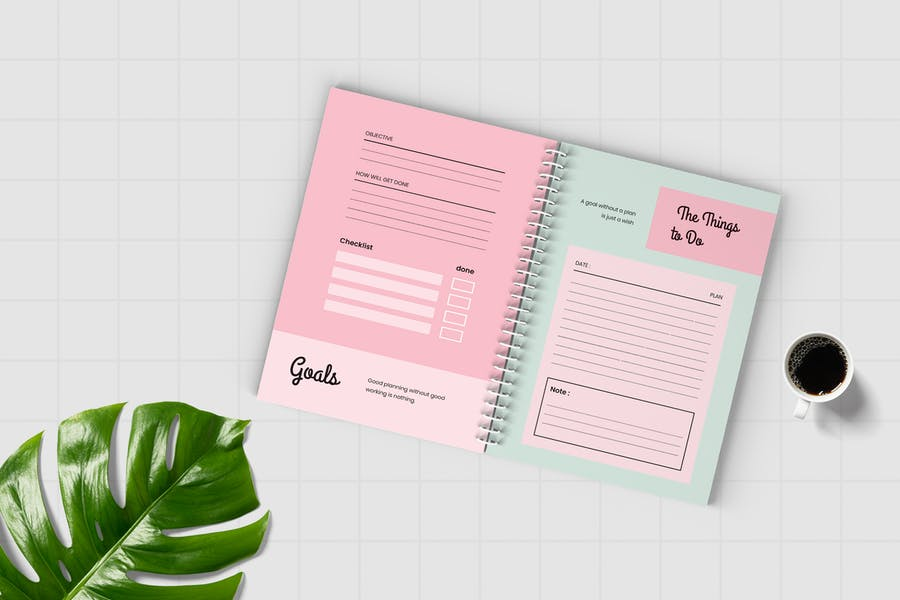 Worksheet Daily Planner Book - Two - 0