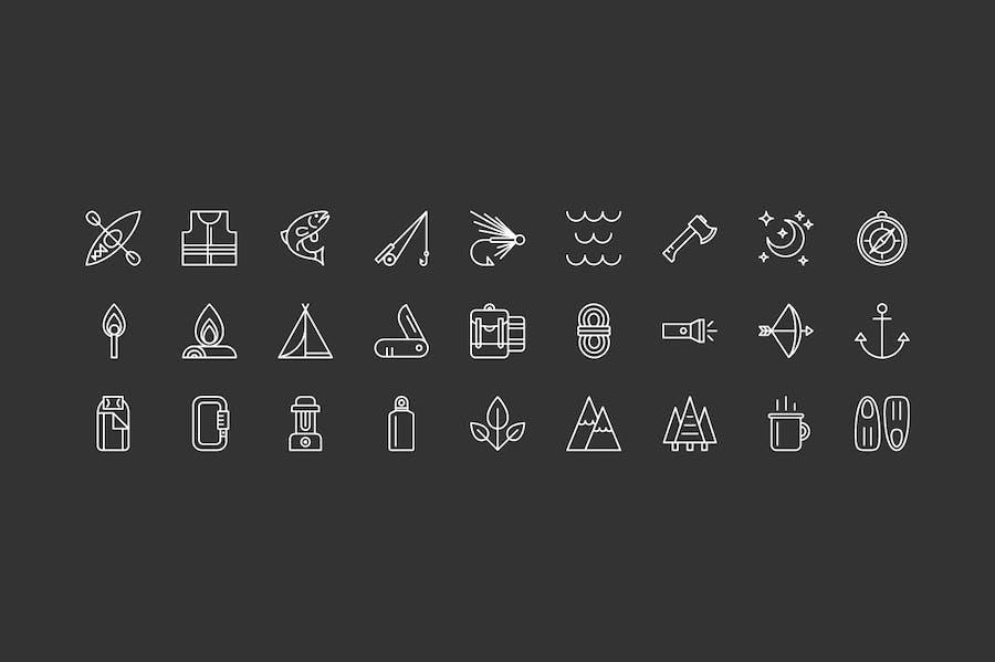 Outdoor Adventure Icons - 1