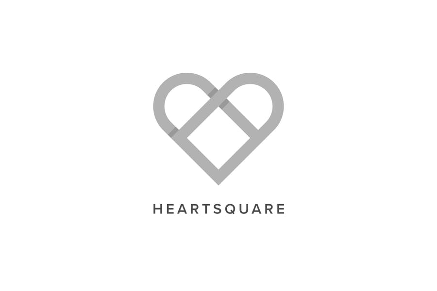 Heart Square Logo Template - 1