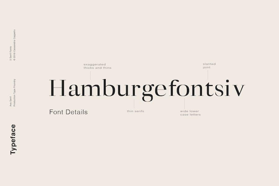 Ava - A Classy Serif Typeface - 1